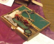 My Christmas Present, the pseudo science-goggles and artifact in gorgeous wooden box.