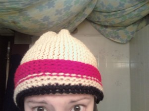 My first knitted hat