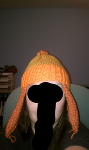 My first, smaller, Jayne Hat